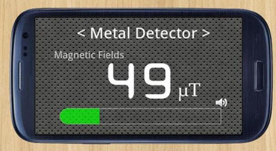 Android application Metal Detector