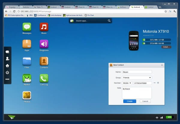 The program for remote control of Android - AirDroid