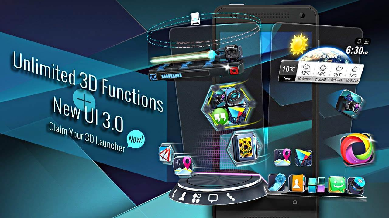 Лаунчер для Android - Next Launcher 3D Shell Lite