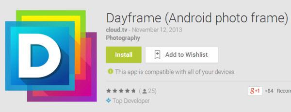 Просмотрщик фотографий на Android - Dayframe