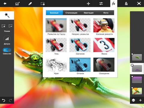 Фоторедактор для iPad и iPhone - Adobe Photoshop Touch