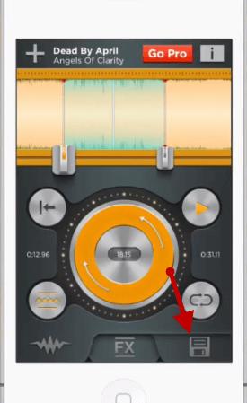 Editing a ringtone in a ringtone