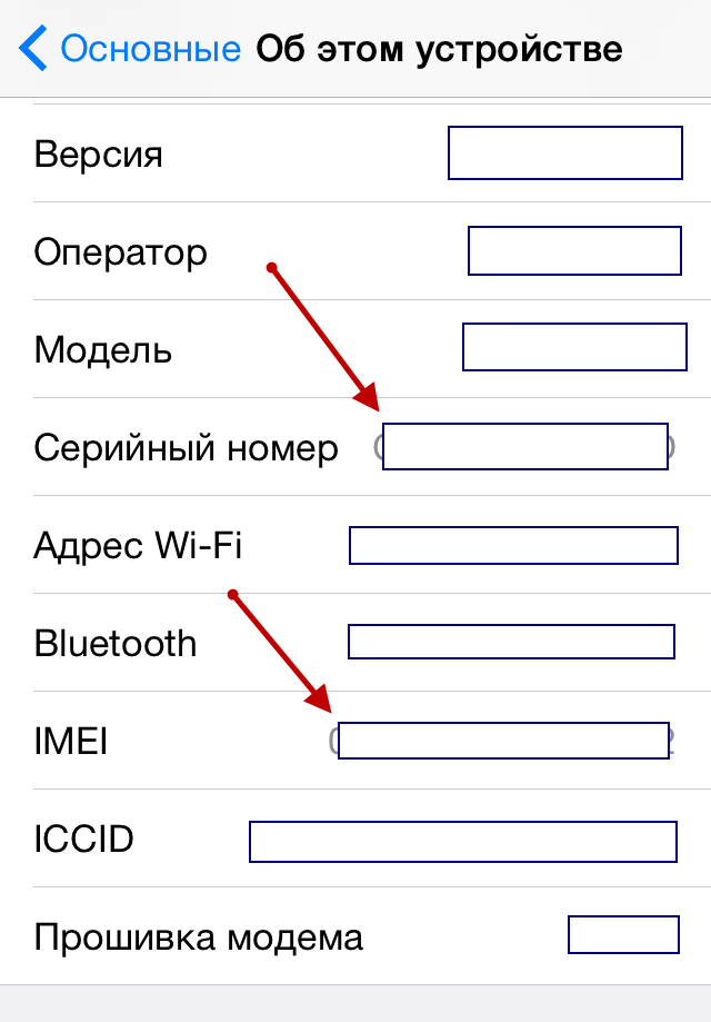 Apple device information