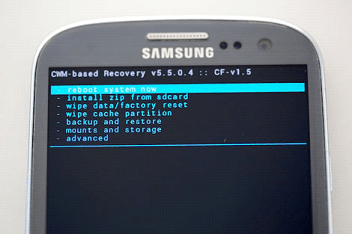 Reset settings in Android