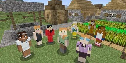 Майнкрафт - простор для игры целой группы игроков