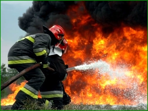тушение пожара мчс