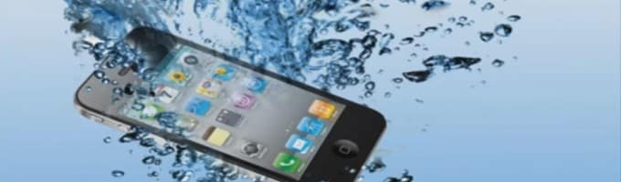 IPhone fell into the water