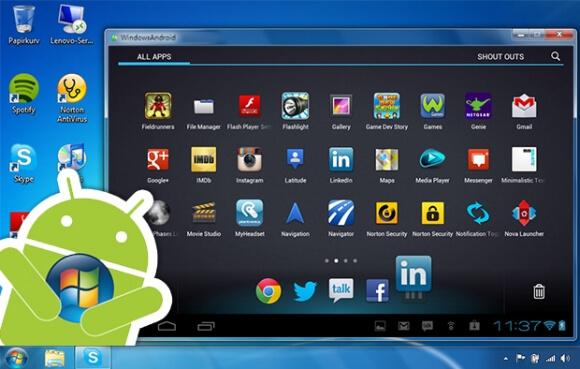 эмулятор android для windows 7 скачать бесплатно