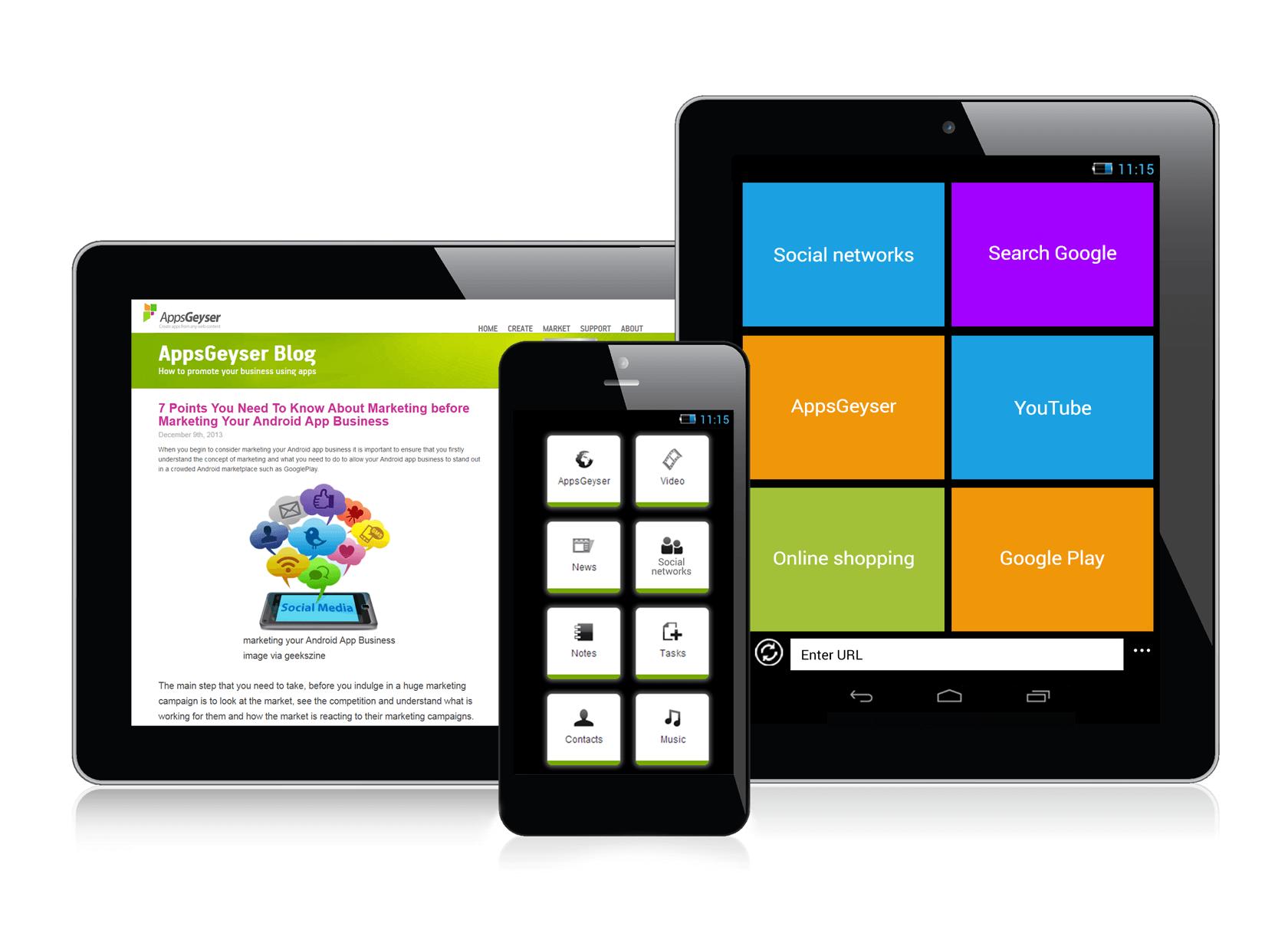 Инструмент для создания приложений для Android - AppsGeyser