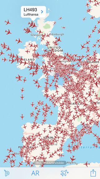 Полезная программа для iPad и iPhone - Plane Finder Free