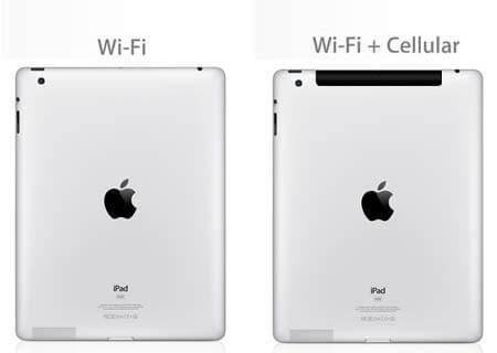 Различия iPad с Cellular и без Cellular