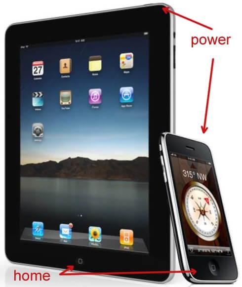 Принудительная перезагрузка iPad