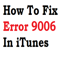 iTunes ошибка 9006